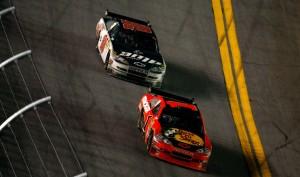 2010 Daytona 500 Jamie McMurray leads Dale Earnhardt Jr