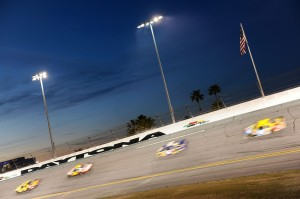 2010 Daytona 500 racing under the lights