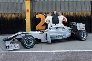 2010 Merecedes GP W01 Launch