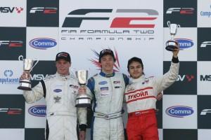 The podium trio