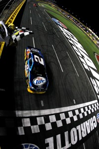 2010 Charlotte May NSCS Kurt Busch crosses finish line