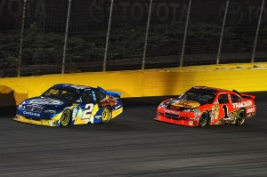 2010 Charlotte May NSCS Kurt Busch leads Jamie McMurray
