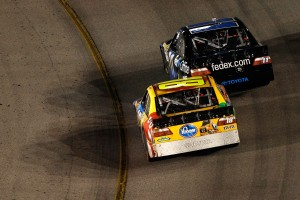 2010_Richmond_Sept_NSCS_Denny_Hamlin_leads_Kyle_Busch