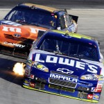2010_Martinsville_Oct_NSCS_Jimmie_Johnson_races_Kyle_Busch