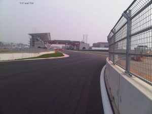 From T17 to T18 and onto main straight