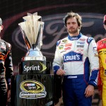 2010_Homestead_Nov_NSCS_prerace_Hamlin_Johnson_Harvick_trophy
