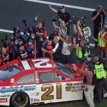 2011_Daytona_Feb_Trevor_Bayne_celebrates_infield