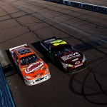 2011_Phoenix_Feb_NSCS_Jeff_Gordon_passes_Kyle_Busch