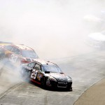 2011BristolMar_NSCS_Race_Harvick_Spin