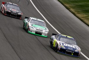 2011_Auto_Club_NSCS_Jimmie_Johnson_Kyle_Busch_Kevin_Harvick