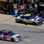2011TalladegaApr_NSCS_Race_Jimmie_Johnson_and_Dale_Earnhardt_Jr_Pit