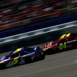 2011TalladegaApr_NSCS_Race_Mark_Martin_and_Jeff_Gordon_drafting