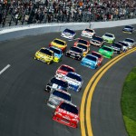 2012 Daytona Feb NCSC Duel 1 Stewart leads pack