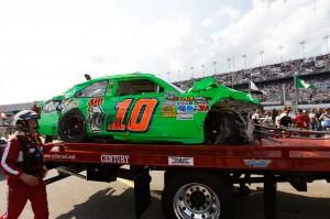 2012 Daytona Feb NCSCS Duel 1 10 car rollback