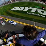 2012 Daytona Feb NSCS Duel 1 green flag