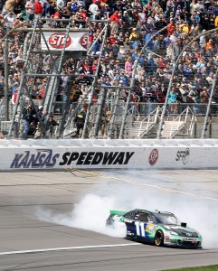 2012_Kansas_April_NASCAR_Sprint_Cup_Race_Denny_Hamlin_Donuts