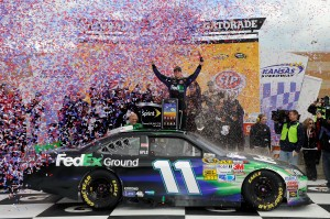 2012_Kansas_April_NASCAR_Sprint_Cup_Race_Denny_Hamlin_Victory_Lane_Full