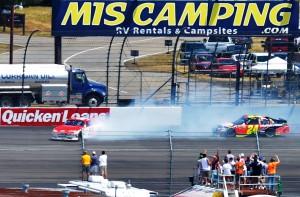 2012 Michigan June NASCAR Sprint Cup Series Race Kurt Busch Spins Jeff Gordon