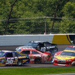 2012_Pocono_June_NASCAR_Sprint_Cup_Series_Race_Truex_Cassill_Johnson_Allmendinger_Reutimann