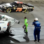 2012_Bristol2_Danica_Patrick_Wags_Finger_At_Regan_Smith_After_Incident