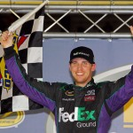 2012_Bristol2_Denny_Hamlin_Celebrates_With_Checkered_Flag