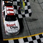 denny-hamlin-checkered-flag-atlanta-2012