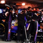 2012 Martinsville2 Crew Works On Denny Hamlin Car In Garage