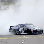 2012 Martinsville2 Jimmie Johnson Celebrates With Burnout