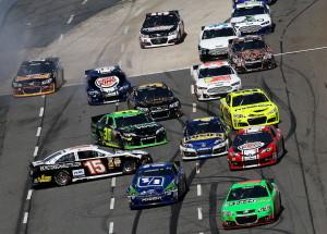 Clint-Bowyer-Ricky-Stenhouse-Jr-Martinsville-NASCAR-April-2013