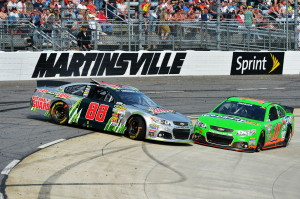 Dale-Earnhardt-Jr-Danica-Patrick-Martinsville-NASCAR-April-2013