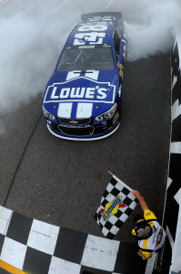Jimmie-Johnson-Checkered-Flag-Martinsville-NASCAR-April-2013