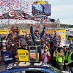 Jimmie Johnson Victory Lane Martinvsille NASCAR April 2013 150x150 NASCAR: Analyse Martinsville April 2013