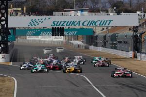 Super Formula Round 0 Suzuka 2013 Start