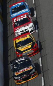 Tony-Stewart-Joey-Logano-Martinsville-NASCAR-April-2013