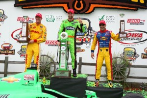 Iowa Corn Indy 250 Podium (C) Chris Jones/IndyCar Media