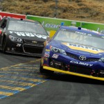 Martin-Truex-Jr-action-Toyota-Save-Mart-NASCAR-Sprint-Cup-Series