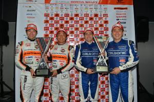 Super GT Malaysia 2013 Winners OliveiraMatsudaKobayashiTakagi