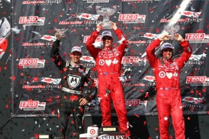 Podium Rennen 1 (c) Chris Jones/IndyCar Media