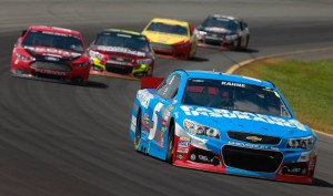 Kasey-Kahne-leads-NASCAR-Sprint-Cup-Series-Pocono-GoBowling400