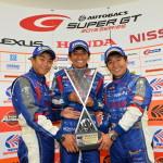 Super GT Suzuka 2013 GT300 Winners Takuto Iguchi Tetsuya Yamano Kota Sasaki