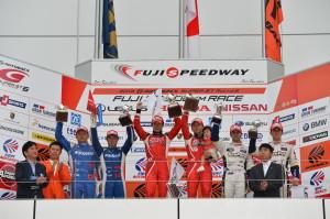 Super GT Fuji 2013 GT500 Podium