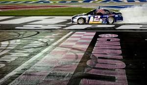 NASCAR_NSCS_CMS_Brad_Keselowski_Win_Burnout