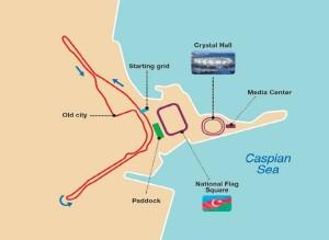FIA GT Baku Strecke