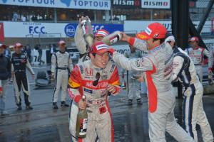 Super Formula Suzuka 2013 Naoki Yamamoto Celebration