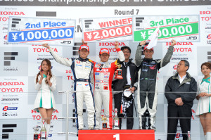 Super Formula Suzuka 2013 Race 1 Podium