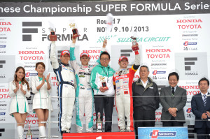 Super Formula Suzuka 2013 Race 2 Podium