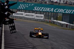 Super Formula Suzuka 2014 Loic Duval Victory