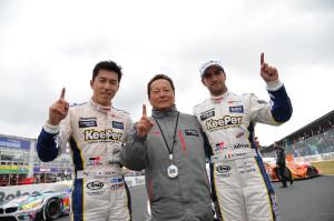 Super GT Okayama 2014 Daisuke Ito Andrea Caldarelli