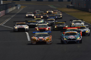 Super GT Okayama 2014 GT300 Start