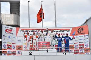 Super GT Okayama 2014 GT500 Podium